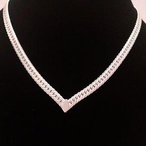 Napier Silver Tone Flat Choker Necklace